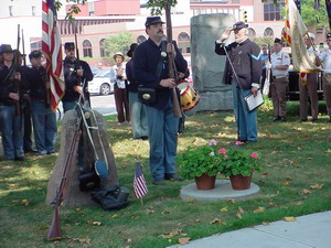 Rededication ceremony of the Crapo Post GAR Monument